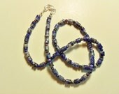 Sodalite Necklace 21-inch, Blue Necklace, Simple string of sodalite beads, sodalite beaded necklace....