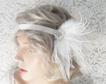 GATSBY headpiece bridal headband GATSBY headband Flapper headband hair accessories ivory headband 20's headband bridal accessories