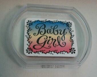 Friskars Baby Girl Rubber Stamp