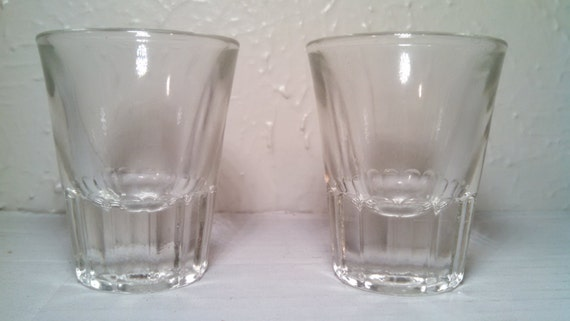 Vintage shot glasses set of 2.