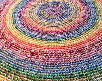 Made To Order 8 Foot Rainbow Rug/Rugs/Rug/Round Rugs/Round