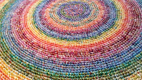 Made To Order 8 Foot Rainbow Rug Rugs Rug Round Rugs Round