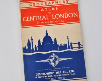 Vintage Geographer's Atlas of Central London Book