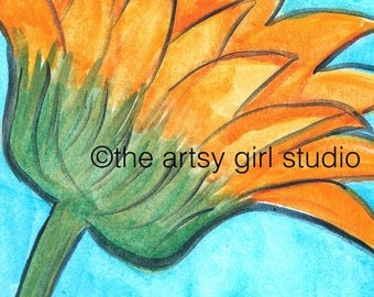 Gerber daisy - Art Print available in three sizes