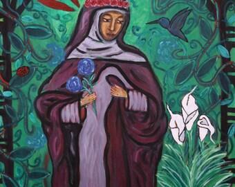 Divine Feminine Print- Hildegard Von Bingen