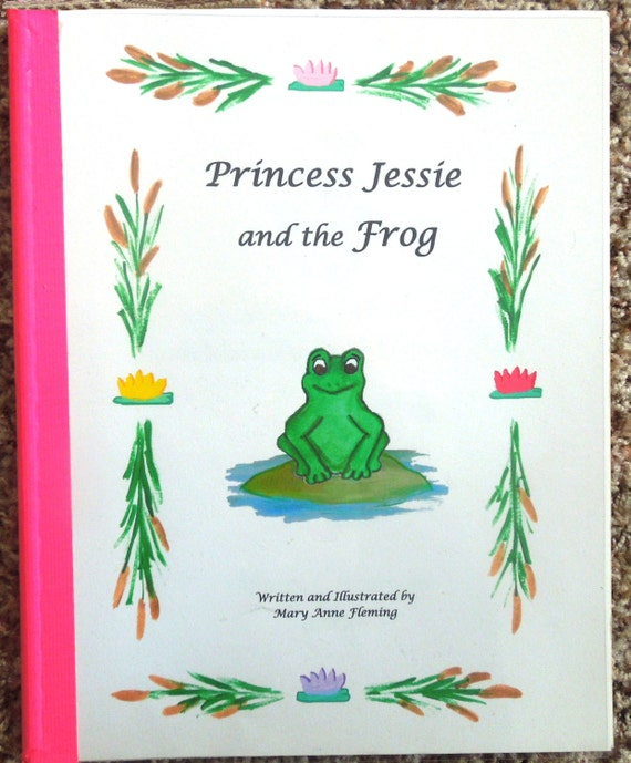 """Personalized / Photo Princess Storybook  ---- """"The Princess and the Frog"""""""