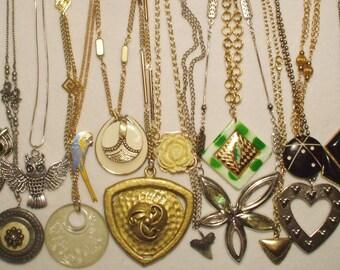 20 wearable Vintage Style Pendant necklaces