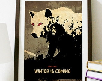 Games of Thrones - HOUSE STARK - Winter is Coming Poster
