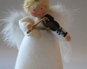 Angel with Violin - Waldorf Inspired - Nature Table- Christmas