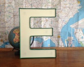 Large Old Sign Letter E Reclaimed Salvage Advertising Letter