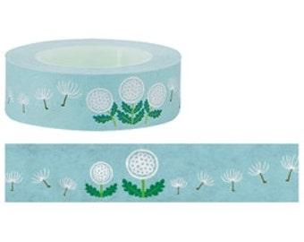 15M Japanese Washi Masking Tapes - dandelion flower - 9333506