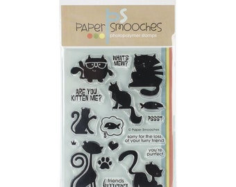 Paper Smooches FELINE FRIENDS - 17 Stamp Set