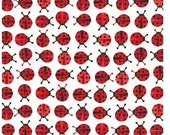 MINI Red Ladybugs From Robert Kaufman's Urban Zoologie Mini Collection