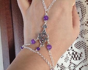 Amethyst Slave Bracelet