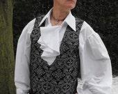 "Legendary Steampunk Goblin King Red/Black Skull or Silver/Black Renaissance Brocade Waistcoat / Vest - 36 38 40 42 44 46 48 50 or 52"" Chest"