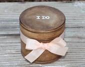 Wedding Ring Pillow Box, Ring Bearer Box Personalization Choice Rustic Woodland Shabby Chic Weddings