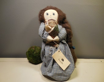 Vintage Locust Hill Hand Made Stuffed Doll
