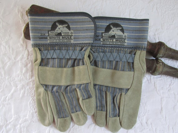 Wells lamont white mule ladies leather with suede patch gloves color - goldenrod green new tags s size smallsmooth grain pigskin spandex back provides .