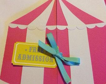 Carnival Birthday Circus Tent Invitation