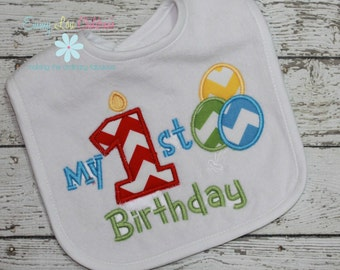 Birthday Bib - First Birthday Bib - 1st Birthday Bib - Great Birthday Gift