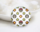 10mm 12mm 14mm 16mm 18mm 20mm 25mm 30mm Handmade Round Photo Glass Cabs Cover-Star (P2161)