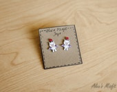 Final Fantasy Inspired Moogle Earrings