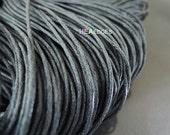 Cotton Wax Cord 2 Yards 1.5mm - Grey Round Round Cotton Wax Cords