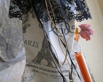 Christmas stocking   Efifel Tower Christmas stocking   Victorian Christmas stocking   Shabby Chic Christmas stocking   Hand made USA