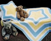 Pdf Pattern. Crochet BABY STAR AFGHAN & Matching Pillow. Easy Star Shaped Blanket With Star Shape Pillow. Crochet Pattern. Instant Download