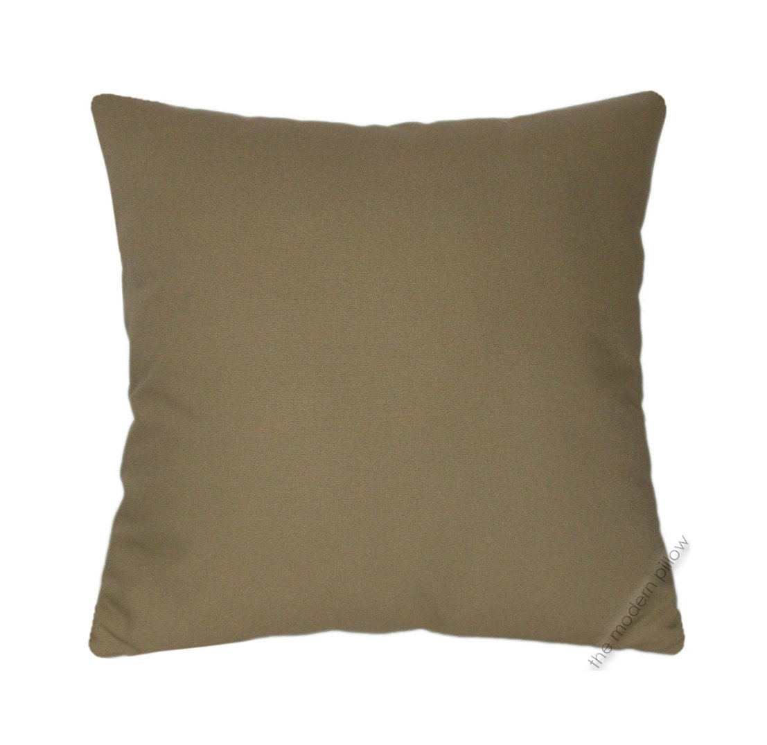 Solid Decorative Throw Pillows : Organic Khaki Green Solid Decorative Throw Pillow Cover