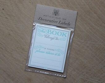 This Book Belongs To... Ex Libris Letterpress Bookplate