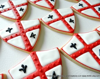 Large Knight or King Shield for Decorated Cookies for Birthday Parties (#2365)