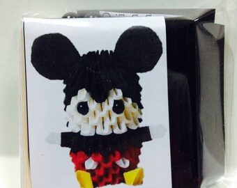 3D origami Mickey Mouse kit