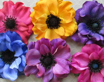 Anemone Flower Clip & Pin - 8 Color Choices!