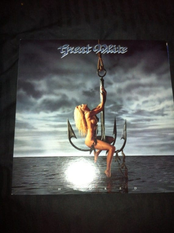 Great White Record LP With BANNED Naked Woman LP cover 1991
