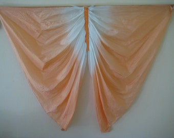 Silk Butterfly Wings Costume, Orange and White Pure Silk Fairy Wings