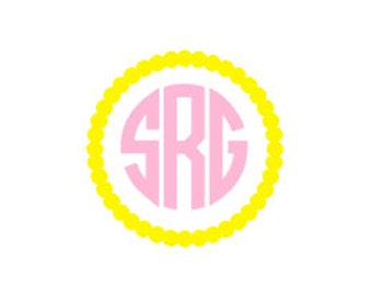Circle Dot Monogram Decal