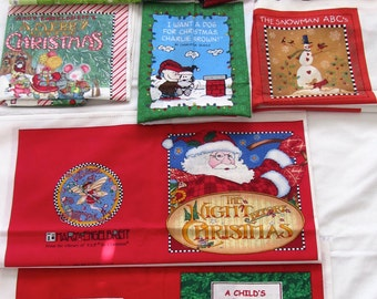 Christmas panels Rudolph, The Night Before Christmas, I want a dog for Christmas, Silly Willie penguin, Snowman ABC, Merry Little Christmas