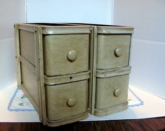Antique Sewing Machine Drawers / Set of 4 Solid Wood Sewing Machine Drawers