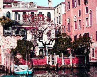 Italy Photography,Fashion Wall Art,Nursery Print,Hot Pink, Neon,Teal,Preppy Art,Romantic Travel,Italian Bedroom,Teen Girl,Dorm Decor,Boat