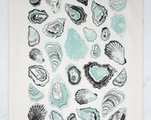 Oyster Tea Towel - Mint