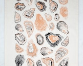 Oyster Tea Towel - Apricot