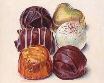 Chocolates 3. Giclée print.