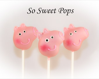 So Sweet Pops Happily Girl Pig Inspired Cake Pops