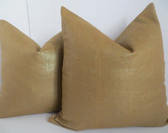 Decorative Pillow Cover, Metallic Pillow  Cover, 20x20, 18x18 Bronze Pillow Cover, Bronze Pillow,Gold Pillow Cover, Gold Pillow, Pillow