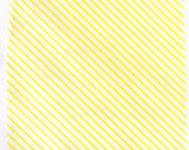 25 Yellow Stripe WAX PAPER sheets-Pink Lemonade party shop EXCLUSIVE-basket liners-food safe