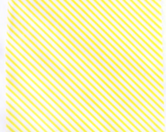 50 Yellow Stripe WAX PAPER sheets-Pink Lemonade party shop EXCLUSIVE-basket liners-food safe