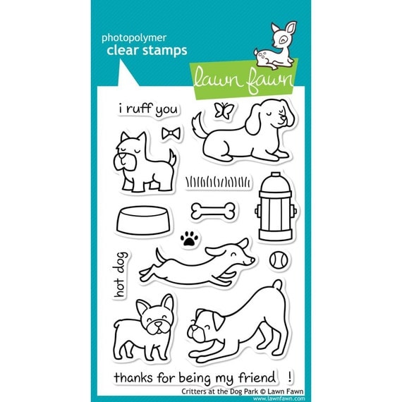 Lawn Fawn Critters at the Dog Park Die and Stamp Set