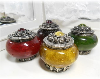 Vintage Jeweled Tone Pill Box Collection