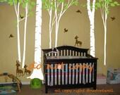 Nursery decals Forest Decals wall stickers  Kids wall decals baby decal nursery decal room decor wall decor wall art -deer forest